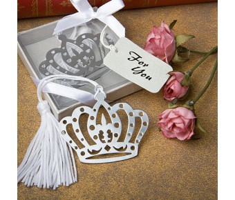 6527 Crown Design Bookmark Favors