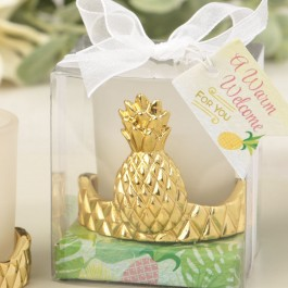 8749 Pineapple design votive candle holder from the Warm Welcome Collection