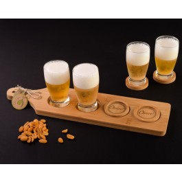 """Cheers!"" Beer Flight - Tasting Paddle with Coasters by myitalianfavors.com"