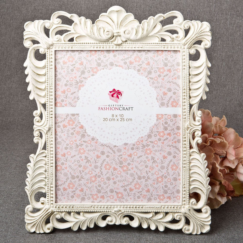 Brushed Gold Baroque Ivory 8 x 10 Frame | Gifts By Fashioncraft ...