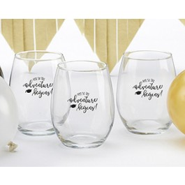 30023NA-CH #Celebrate 15 oz. Stemless Wine Glass (Set of 4)