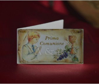 C275 First Communion Boy Favor Tags Bigliettini