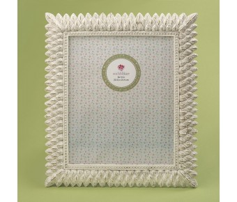 12883 Brushed leaf ivory 8 x 10 frame from gifts by fashioncraft
