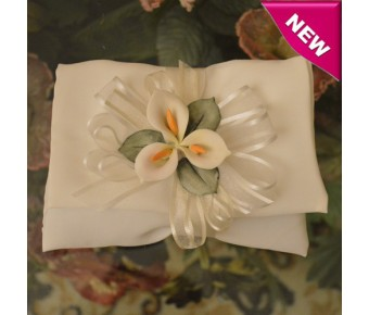 AF410 Italian Envelope Wedding Favors with Calla Lily Flower