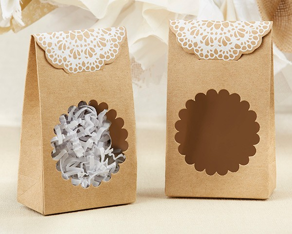 28324PK Foil Paper Plates - Itu0027s a Girl! & Rustic Kraft Tent Favor Box (Set of 12) | Kate Aspen | Favors by ...