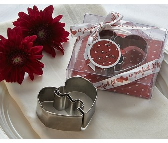 """A73003 """"A Perfect Fit"""" Heart Puzzle Cookie Cutters"""