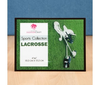 12148 Unique lacrosse frame 4x6 from gifts by fashioncraft