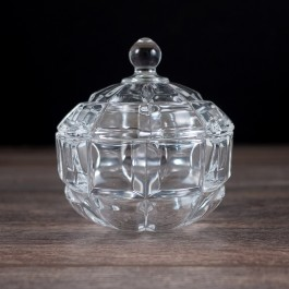 Glass Candy Dish with Lid  by myitalianfavors.com