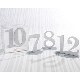 22080MD Silver Glitter Table Numbers (7-12)