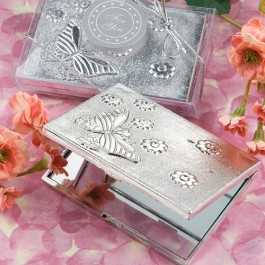 5918 Elegant  Reflections Collection Butterfly Design Mirror Compact Favors
