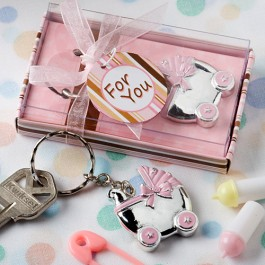 8193 Pink Baby Carriage  Design Key Chains