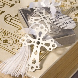6475 Book Lovers Collection Cross Bookmark Favors