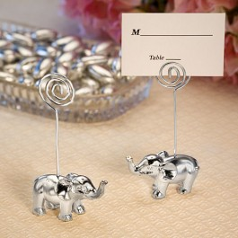 5356 Silver Finish Elephant Place Card Holders