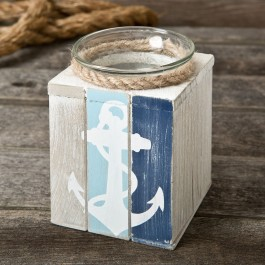 12165 Anchor candle holder with Candle from gifts by fashioncraft
