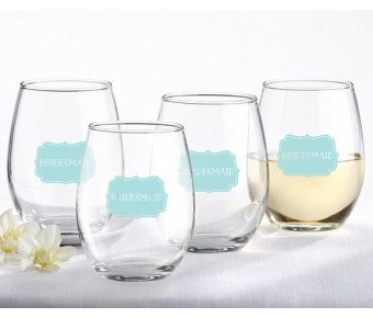 30023NA-BOY2 It's a Boy 15 oz. Stemless Wine Glass (Set of 4)