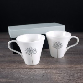 Espresso Coffee Set of 2 with tree of life motif by myitalianfavors.com