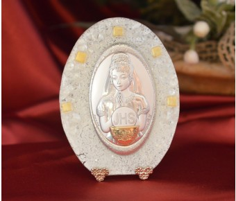 64MUR Made in Italy First Communion Girl on a Murano Glass Stand