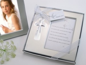 """A11006 """"Bless this Day"""" Cross Photo Frame Favor in Gift Box"""