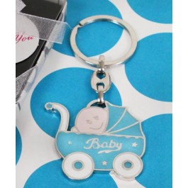 "RB1174BY ""Bundle of Joy"" Blue Baby Carriage Key Chain"