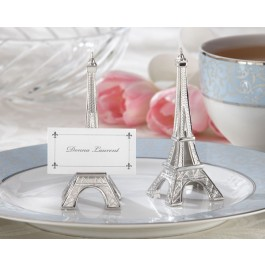 "11063NA ""Evening in Paris"" Eiffel Tower Silver-Finish Place Card/Holder (Set of 4)"