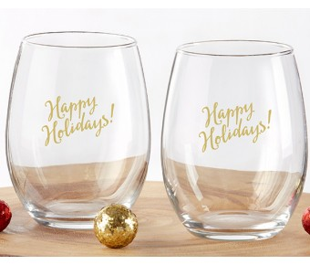 30023NA-GIVE Give Thanks 15 oz. Stemless Wine Glass (Set of 4)