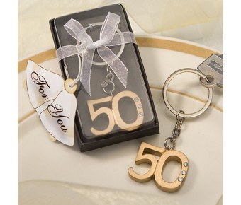 6443 50Th Anniversary Key Ring Favors