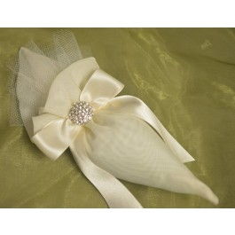 AF1532 Cone Favor bag with craft flower, Wedding Favors Bomboniere