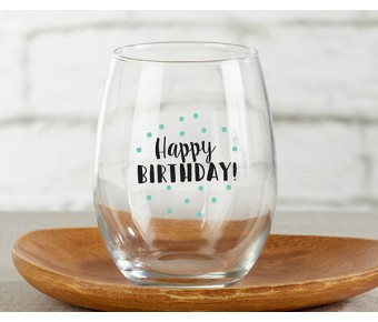 30023NA-ETH Personalized 15 oz. Stemless Wine Glass - Ethereal
