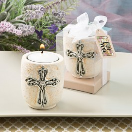 5495 Cross design candle tea light holder from fashioncraft