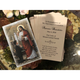 FA2236 Personalized First Communion Remembrance Card