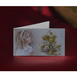 C290 First Communion Girl Favor Tags Bigliettini