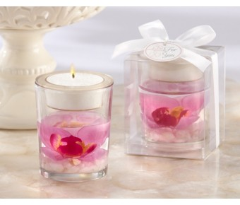 "20126PK ""Elegant Orchid"" Tealight Holder"