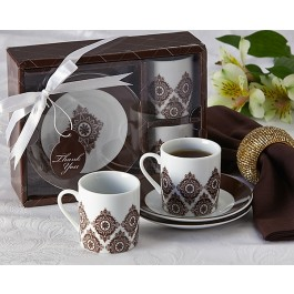 "A92024 ""Moroccan Flair"" Espresso Coffee Cup Set"