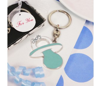 "RB1176 ""Bundle of Joy"" Blue Pacifier Shaped Key Chain"
