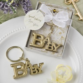 8976 Luxurious Gold Baby themed key chain from fashioncraft