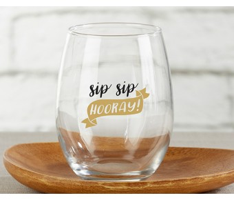 30023NA-NYE Personalized 15 oz. Stemless Wine Glass - New Years