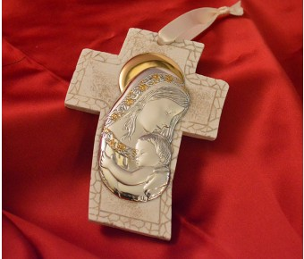 RL4000 Mother and Child Hanging Cross Made in Italy