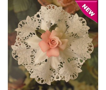 CF580A Italian Confetti Flower with Capodimonte Rose