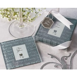 "A51031 ""Faith, Hope & Charity"" Photo Coasters (Set of 2)"