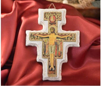 BE15391 Italian San Damiano Cross