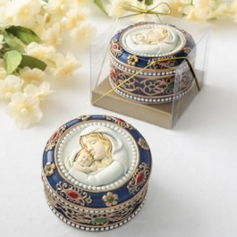 88013 Madonna and Child Rosary box - trinket box