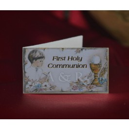 C232E First Communion Boy Favor Tags Bigliettini