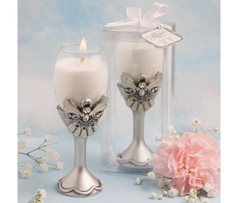 8198 Angel Design Champagne Flute Candle Holders