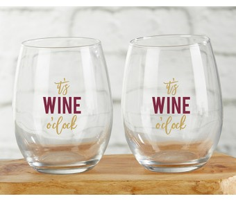 30023NA-SSH Sip Sip Hooray 15 oz. Stemless Wine Glass (Set of 4)