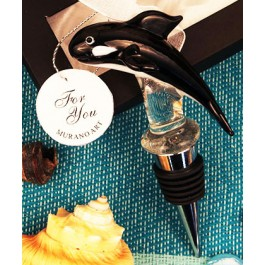 "RB1076 ""The Killer Whale"" Arte Murano Bottle Stopper"