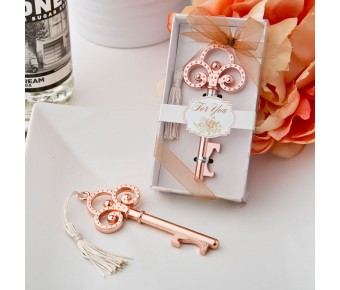 4244 Rose Gold Vintage skeleton key bottle opener from fashioncraft