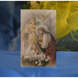 FCR326G Personalized First Communion Remembrance Card