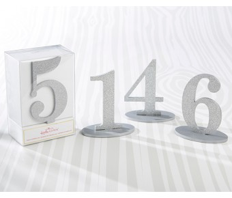 22080SM Silver Glitter Table Numbers (1-6)