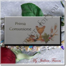 D342 First Communion Italian Favor Tag Bigliettino
