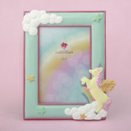 12889 Unicorn 4 x 6 frame from gifts by fashioncraft